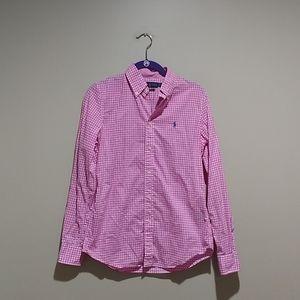 🍁Ralph Lauren pink and white checkered buttondown